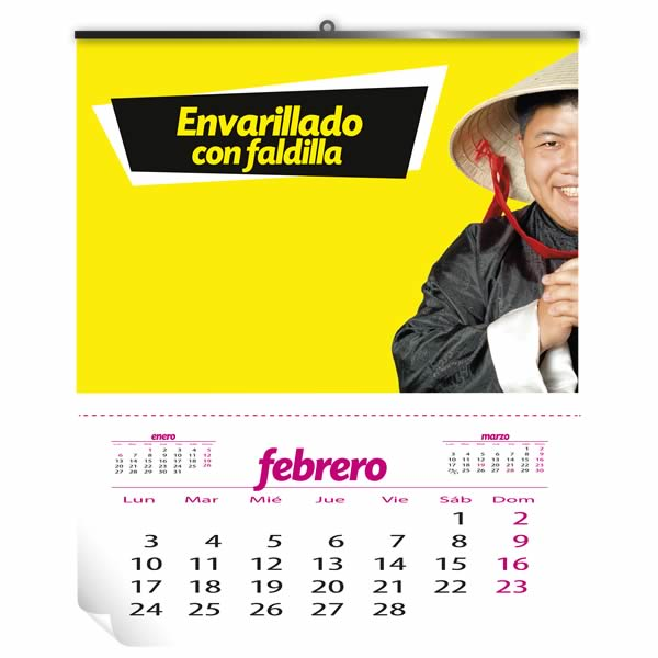 calendarios pared con faldilla baratos la imprenta china